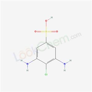 Molecular Structure of 7057-68-3 (3,5-Diamino-4-chlorobenzenesulphonic acid)