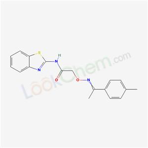 4876-66-8,N-benzothiazol-2-yl-2-[1-(4-methylphenyl)ethylideneamino]oxy-acetamide,
