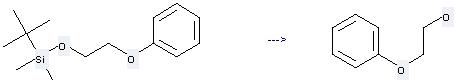 2-Phenoxyethanol can be prepared by tert-butyl-dimethyl-(2-phenoxy-ethoxy)-silane at the temperature of 80 °C
