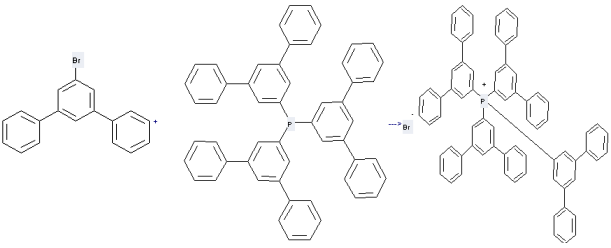 1-Bromo-3,5-diphenylbenzene can be used to produce tetrakis-[1,1';3',1'']terphenyl-5'-yl-phosphonium; bromide with tris-[1,1';3',1'']terphenyl-5'-yl-phosphane