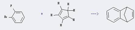 1-Fluoro-2-bromobenzene can react with cyclopenta-1,3-diene to produce 1,4-dihydro-1,4-methano-naphthalene