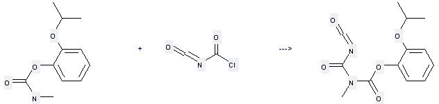 Propoxur can be used to produce C13H14N2O5 at the temperature of 130 °C