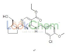 4-[[(3-Chloro-4-methoxyphenyl)methyl]amino]-2-[(2S)-2-(hydroxymethyl)-1-pyrrolidinyl]-5-pyrimidinecarboxylic acid ethyl ester(330785-83-6)