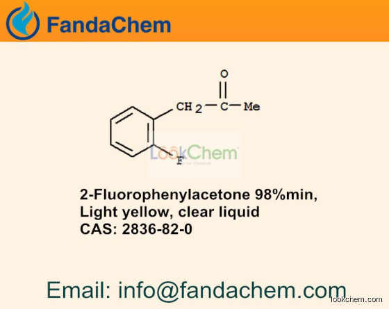 2-Fluorophenylacetone 98%min,  cas  2836-82-0 from Hangzhou Fandachem Co.,Ltd