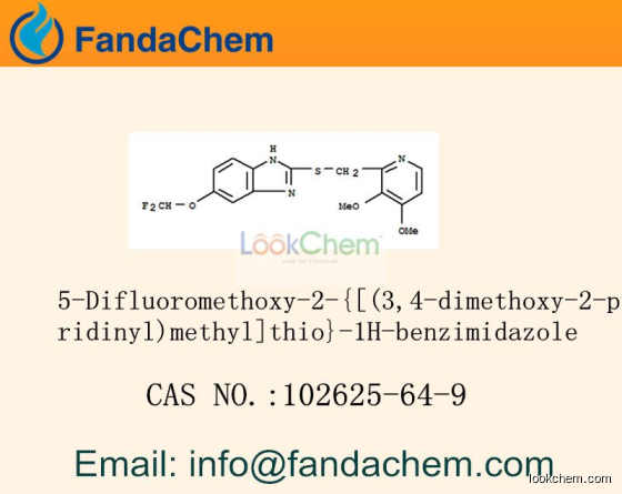 5-Difluoromethoxy-2-{[(3,4-dimethoxy-2-pyridinyl)methyl]thio}-1H-benzimidazole cas  102625-64-9(102625-64-9)
