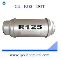 Refrigerant Gas R125 With High Purity 870KG/Ton Cylinder