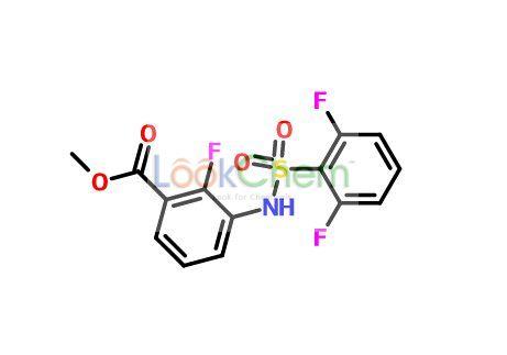 Methyl 3-{[(2,6-difluoropheyl)sulfonyl]amino}-2-fluorabenzoate(1195768-19-4)