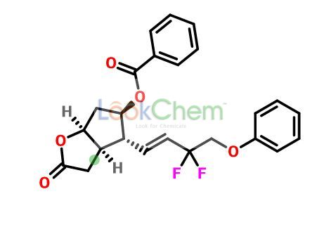 (3AR,4R,5R,6aS)-4-((E)-3,3-Difluoro-4-phenoxybut-1-en-1-yl)-2-oxohexahydro-2H-cyclopenta[b]furan-5-yl benzoate(209861-00-7)