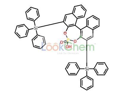 (S)-3,3'-Bis(triphenylsilyl)-1,1'-binaphthalene-2,2'-diyl hydrogen phosphate(929097-92-7)