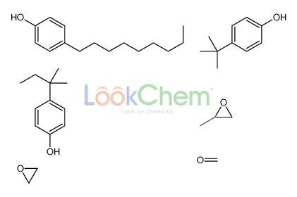 4-tert-butylphenol,formaldehyde,4-(2-methylbutan-2-yl)phenol,2-methyloxirane,4-nonylphenol,oxirane