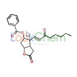 5-(benzoyloxy)-3,3a,4,5,6,6a-hexahydro-4-(3-oxo-1-octenyl)-2h-cyclopenta(b)furan-2-one(40834-86-4)