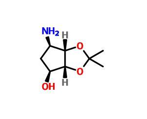 (3aR,4S,6R,6aS)-6-Aminotetrahydro-2,2-dimethyl-4H-cyclopenta-1,3-dioxol-4-ol(155899-66-4)