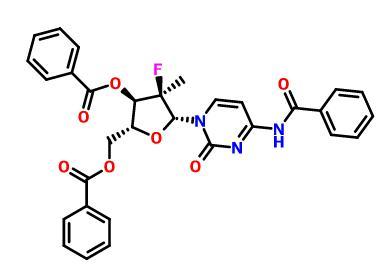 (2'R)-N-Benzoyl-2'-deoxy-2'-fluoro-2'-methylcytidine 3',5'-dibenzoate(817204-32-3)