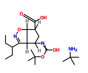 2-methylpropan-2-aminium (3ar,4r,6s,6as)-4-(tert-butoxycarbonylamino)-3-(pentan-3-yl)-4,5,6,6a-tetrahydro-3ah-cyclopenta[d]isoxazole-6-carboxylate(316173-28-1)