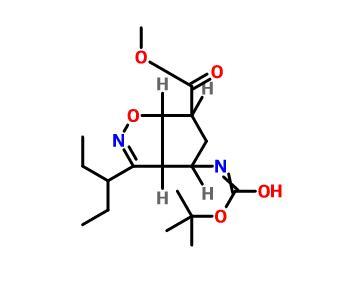 methyl (3aR,4R,6S,6aS)-4-[(2-methylpropan-2-yl)oxycarbonylamino]-3-pentan-3-yl-4,5,6,6a-tetrahydro-3aH-cyclopenta[d][1,2]oxazole-6-carboxylate(229613-93-8)