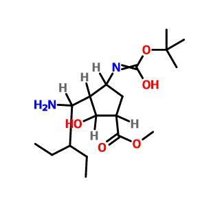 methyl (1S,2S,3S,4R)-3-[(1R)-1-amino-2-ethylbutyl]-2-hydroxy-4-[(2-methylpropan-2-yl)oxycarbonylamino]cyclopentane-1-carboxylate(316173-29-2)