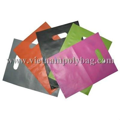 Competitive price and high quality die cut plastic bag