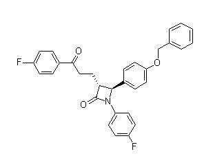 2-Azetidinone, 1-(4-fluorophenyl)-3-[3-(4-fluorophenyl)-3-oxopropyl]-4-[4-(phenylmethoxy)phenyl]-, (3R,4S)-(190595-65-4)