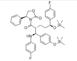 2-Oxazolidinone, 3-[(2R,5S)-5-(4-fluorophenyl)-2-[(S)-[(4-fluorophenyl)amino][4-[(trimethylsilyl)oxy]phenyl]methyl]-1-oxo-5-[(trimethylsilyl)oxy]pentyl]-4-phenyl-, (4S)-(272778-12-8)