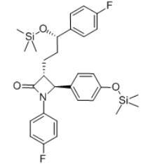 2-Azetidinone, 1-(4-fluorophenyl)-3-[(3S)-3-(4-fluorophenyl)-3-[(trimethylsilyl)oxy]propyl]-4-[4-[(trimethylsilyl)oxy]phenyl]-, (3R,4S)-(272778-13-9)