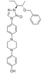 2-[(1S,2S)-1-Ethyl-2-bezyloxypropyl]-2,4-dihydro-4-[4-[4-(4-hydroxyphenyl)-1-piperazinyl]phenyl]-3H-1,2,4-triazol-3-one(184177-83-1)