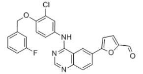 5-[4-((3-Chloro-4-((3-fluorobenzyl)oxy)phenyl)amino)quinazolin-6-yl]-2-furaldehyde