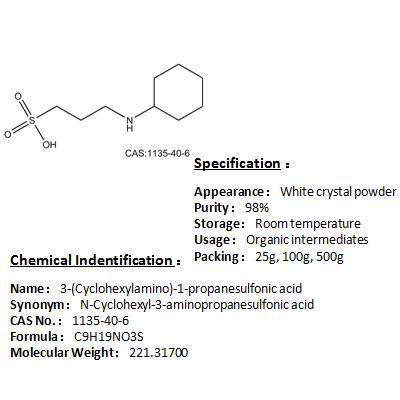 Best price of 3-(Cyclohexylamino)-1-propanesulfonic acid 1135-40-6
