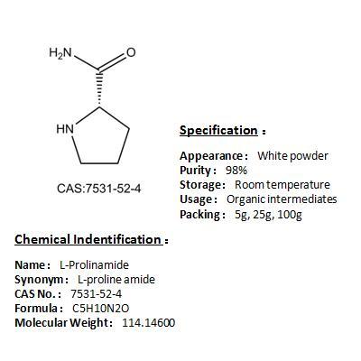Manufacturer L-Prolinamide 7531-52-4