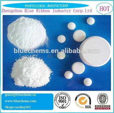 SDIC CAS: 2893-78-9 Sodium dichloroisocyanurate  Water Purifying Agent