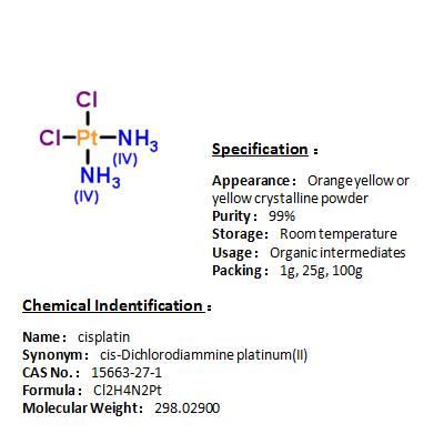 In stock cisplatin 15663-27-1