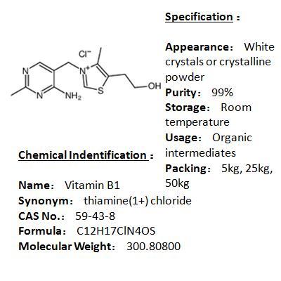 Manufacturer Vitamin B1 59-43-8