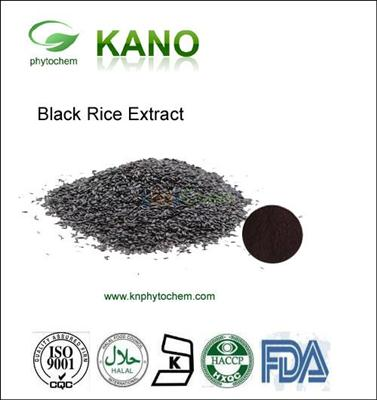 ISO Manufacture Supplying Black Rice Extract 5%-40%Anthocyanidin