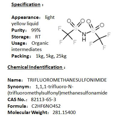 In stock TRIFLUOROMETHANESULFONIMIDE 82113-65-3