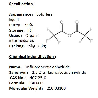 Manufacturer Trifluoroacetic anhydride 407-25-0