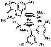 (S,S)-(-)-2,2'-Bis[(R)-(N,N-dimethylamino)(phenyl)methyl]-1,1'-bis[di(3,5-trifluoromethylphenyl) phosphino]ferrocene(494227-36-0)