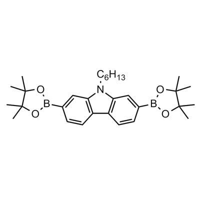 N-Hexyl-2,7-bis(4,4,5,5-tetramethyl-1,3,2-dioxaborolan-2-yl)carbazole(871696-12-7)