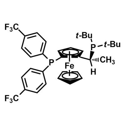 (R)-(-)-1-[(S)-2-Di-tert-butylphosphino)ferrocenyl]ethyldi-(4-trifluoromethylphenyl)phosphine(246231-79-8)