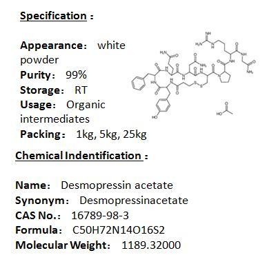 Manufacturer Desmopressin acetate 16789-98-3