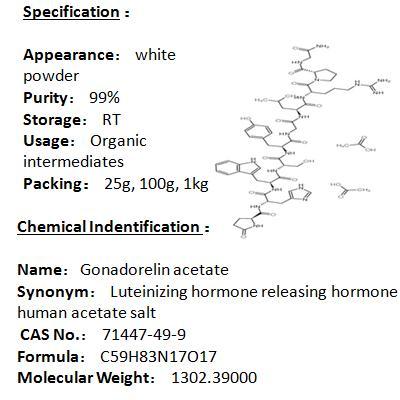 In stock Gonadorelin acetate 71447-49-9