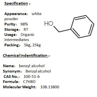 In stock benzyl alcohol 100-51-6