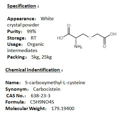 In stock S-carboxymethyl-L-cysteine 638-23-3