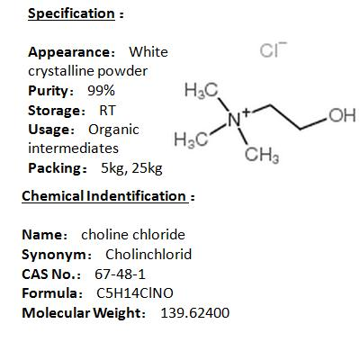 In stock choline chloride 67-48-1