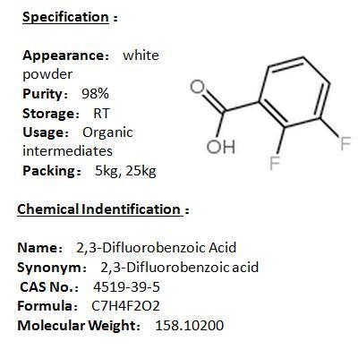 Manufacturer 2,3-Difluorobenzoic Acid 4519-39-5
