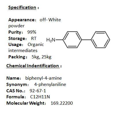 Manufacturer biphenyl-4-amine 92-67-1