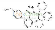 CAS:124750-51-2 C33H25BrN4 5-(4'-Bromomethyl-1,1'-biphenyl-2-yl)-1-triphenylmethyl-1H-tetrazole