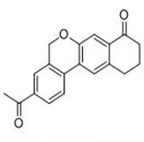 3-acetyl-10,11-dihydro-5H-dibenzo[c,g]chromen-8(9H)-one