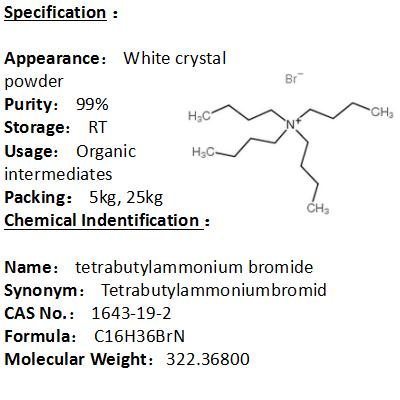 In stock tetrabutylammonium bromide 1643-19-2