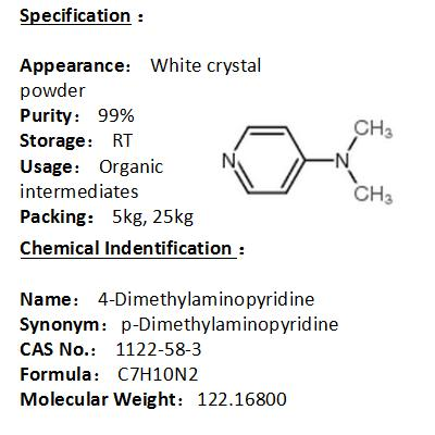 In stock 4-Dimethylaminopyridine 1122-58-3