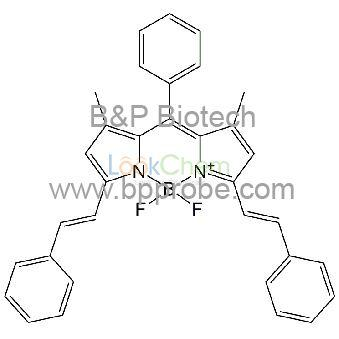 Boron, difluoro[3-methyl-2-[[3-methyl-5-[(1E)-2-phenylethenyl]-2H-pyrrol-2-ylidene-κN]phenylmethyl]-5-[(1E)-2-phenylethenyl]-1H-pyrrolato-κN]-, (T-4)-(1238620-18-2)