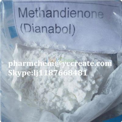 White Powder Methandrostenolone  Steroid Dianabol For Weight Loss(72-63-9)